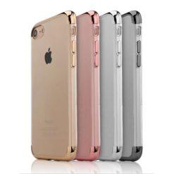 iPhone 7 Ultra Thin Clear Gel Case & Chrome Effect Trim