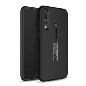 Huawei P20 Pro Dual-Layer Shockproof Finger Strap Stand Case