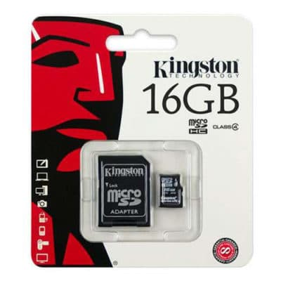 Kingston Micro SD SDHC Memory Card Class 4 16GB