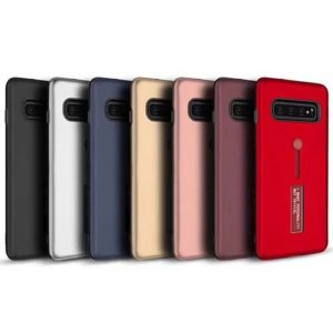 Samsung Galaxy S10 Plus Dual-Layer Shockproof Finger Strap Stand Case