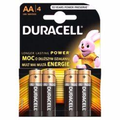 4 x Duracell MN1500 AA Alkaline Batteries