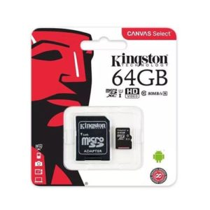 Kingston Canvas Select Micro SDXC Card With SD Adapter Class 10