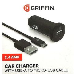 Griffin 2.4 Amp Car Charger With USB-A To Micro-USB Charge / Sync Cable