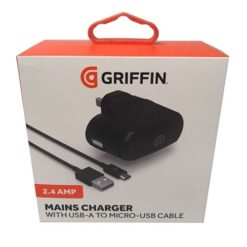 Griffin 2.4 Amp Mains Charger With USB-A To Micro-USB Cable