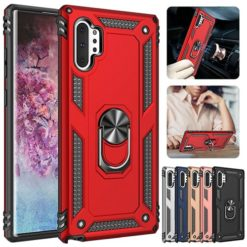 Samsung Galaxy Note 10 Plus Hybrid Dual-Layer Armour Case With Magnetic Ring Stand