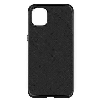 iPhone 11 Matte Black Cross Pattern TPU Gel Case