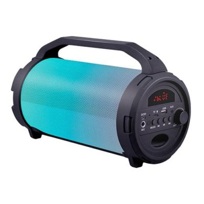 Bluetooth Speaker With LED Light, FM Radio, USB, Micro SD Card