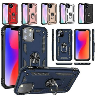 iPhone 11 Hybrid Dual-Layer Armour Case With Magnetic Ring Stand (Copy)