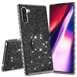 Samsung Galaxy Note 10 Ultra Thin Clear Gel Case With Diamond, Glitter & Ring