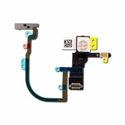 iPhone XS Max OEM Power Button / Microphone / Camera Flash Flex Cable With Bracket