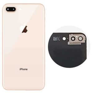 iPhone 8 Plus Rear Back Glass / Battery Cover With Camera Lens & Frame