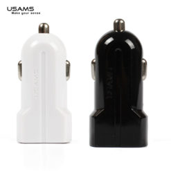 USAMS 3.1A Amp Dual Port Twin USB In Car Charger Adapter