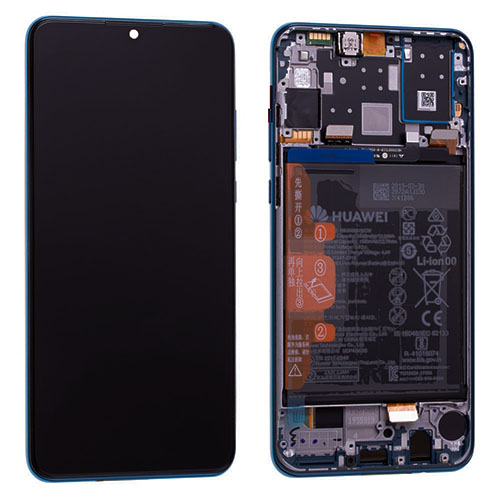 Genuine Huawei P30 Lite LCD Screen & Touch Digitiser With Frame & Battery - 14 Day