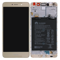 Genuine Huawei Y7 / Y7 Prime LCD Screen & Touch Digitiser With Frame & Battery - Gold