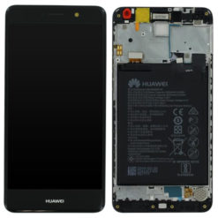 Genuine Huawei Y7 / Y7 Prime LCD Screen & Touch Digitiser With Frame & Battery - Black