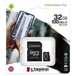 Kingston Micro SD SDHC Memory Card Class 10 32GB 100 MB/S