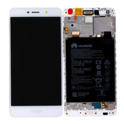 Genuine Huawei Y7 / Y7 Prime LCD Screen & Touch Digitiser With Frame & Battery - White