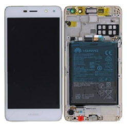 Genuine Huawei Y6 2017 LCD Screen & Touch Digitiser With Frame & Battery - White