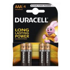 4 x Duracell MN2400 AAA Alkaline Batteries
