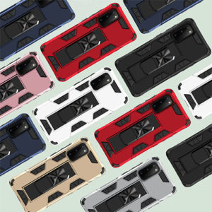 Hybrid Dual-Layer Armour Case With Magnetic Kick Stand - Samsung