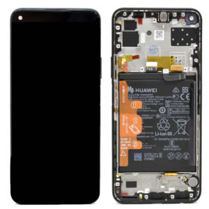 Genuine Huawei P40 Lite 5G LCD Screen & Touch Digitiser With Frame & Battery - Black