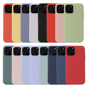iPhone 12 Silicone Liquid Rubber Soft Feel Case