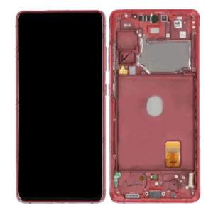 Genuine Samsung G781 Galaxy S20 FE 5G LCD Screen & Touch Digitiser - Cloud Red