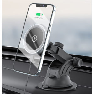 Magnetic Windscreen / Vent Car Circular Mount Holder 15W Wireless Charger for iPhone 12 Series