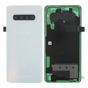 Genuine Samsung G975 Galaxy S10+ Rear Back Glass / Battery Cover With Camera Lens - Prism White