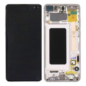 Genuine Samsung G975 Galaxy S10 Plus LCD Screen & Touch Digitiser - Ceramic White