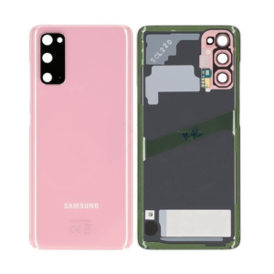 Genuine Samsung G981 Galaxy S20 5G Rear Back Glass / Battery Cover With Camera Lens - Cloud Pink