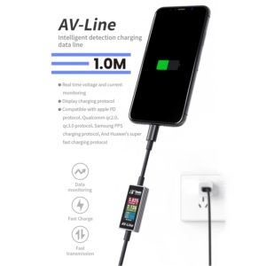 AV-Line Intelligent Detection Charging Power Diagnostics Cable