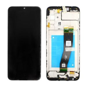 Genuine Samsung A025F Galaxy A02S LCD Screen & Touch Digitiser On Frame