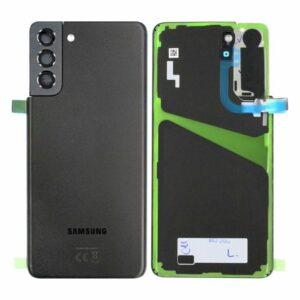 Genuine Samsung G996 Galaxy S21 Plus Rear Back Glass / Battery Cover With Camera Lens - Phantom Black
