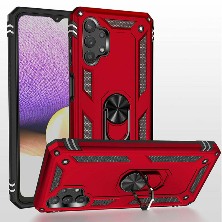 Samsung Galaxy A32 5G Hybrid Dual-Layer Armour Case With Magnetic Ring Stand