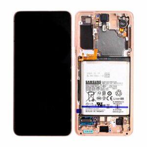 Genuine Samsung G991B Galaxy S21 5G LCD Screen & Touch Digitiser - Phantom Pink