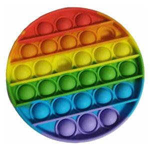 Push Pop Fidget Bubble Kids Toy Stress Relief Sensory Autism Rainbow - Circle