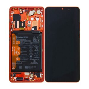Genuine Huawei P30 Pro LCD Screen & Touch Digitiser With Frame & Battery - 14 Day - Amber Sunrise