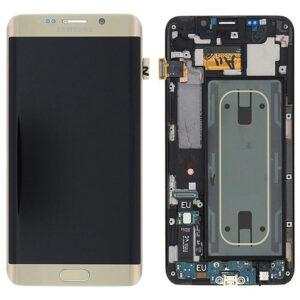 Genuine Samsung G928F Galaxy S6 Edge Plus LCD Screen & Touch Digitiser - Gold