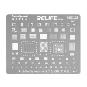 Relife RL-044 iPhone 12 mini / 12 / 12 Pro / 12 Pro Max BGA Re-Balling Stencil Template