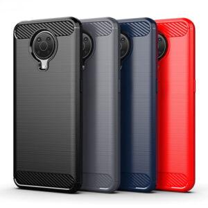 Nokia G20 / G10 Matte TPU Gel Case With Carbon Fibre Effect