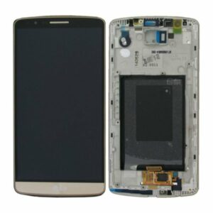 Genuine LG G3 D855 LCD Screen & Touch Digitiser With Frame - Gold