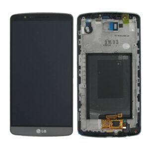 Genuine LG G3 D855 LCD Screen & Touch Digitiser With Frame - Black