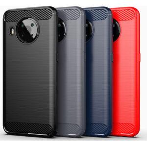 Nokia X20 / X10 Matte TPU Gel Case With Carbon Fibre Effect