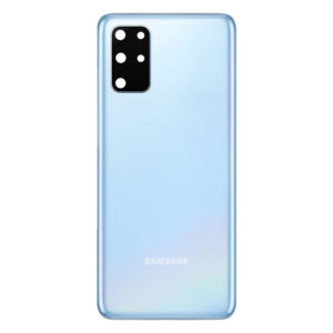 Genuine Samsung G985 Galaxy S20 Plus Rear Back Glass / Battery Cover With Camera Lens - Cloud Blue GRADE A